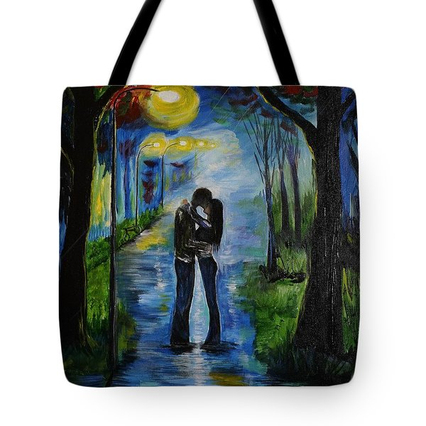 When We Fell In Love Tote Bag by Leslie Allen