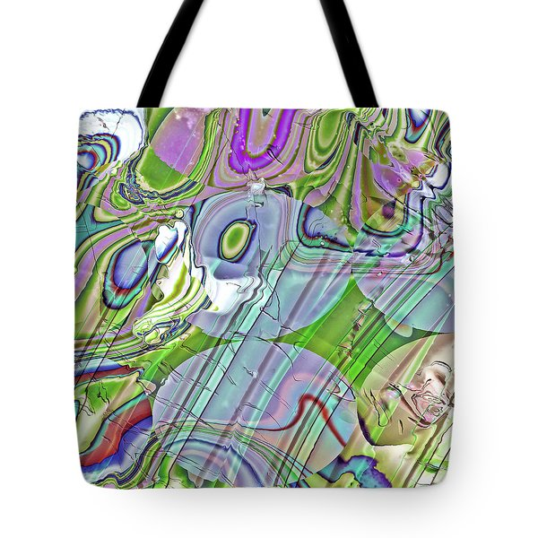 Tote Bag featuring the digital art When Worlds Collide by Richard Thomas