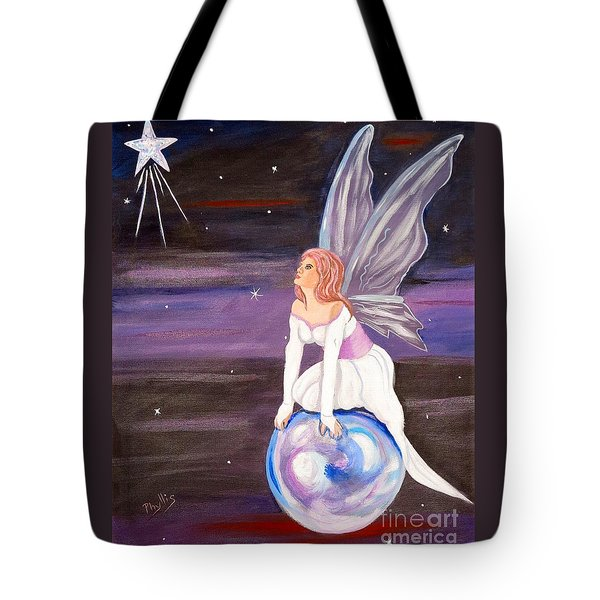 Tote Bag featuring the painting When You Dream by Phyllis Kaltenbach