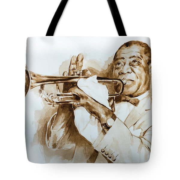 Tote Bag featuring the painting When You're Smilling by Laur Iduc