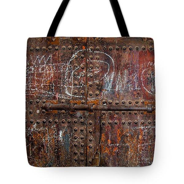 Marrakech Door Tote Bag