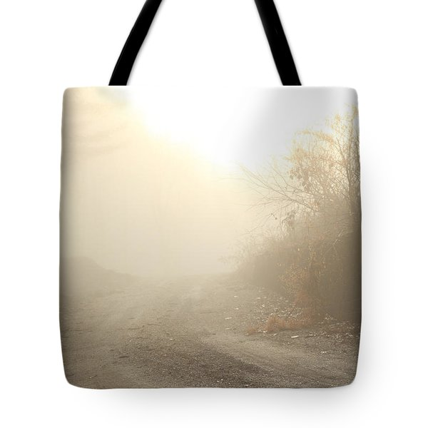 Where Does The Road Lead Tote Bag by Karol Livote