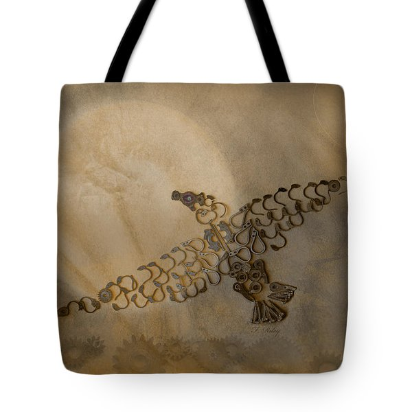 Where Eagles Soar-mechanical Eagle Tote Bag by Fran Riley