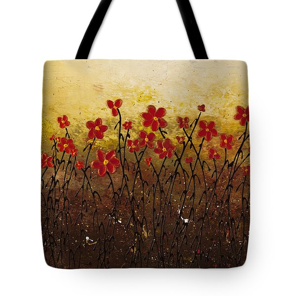 Where Happiness Grows Tote Bag by Carmen Guedez