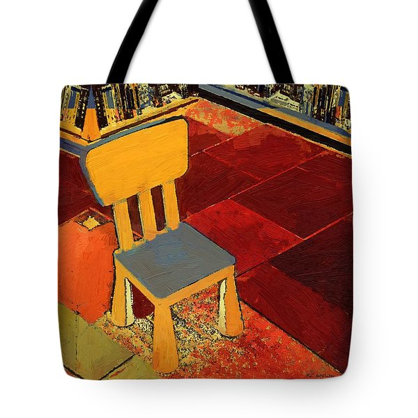 Where I Sit Tote Bag by RC deWinter