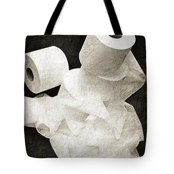 Where Is My Spare Roll Bw V1 Tote Bag by Andee Design