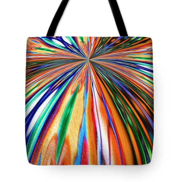 Where It All Began Abstract Tote Bag by Alec Drake