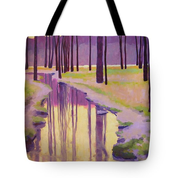 Where Nymphs Play Tote Bag by Mary McInnis
