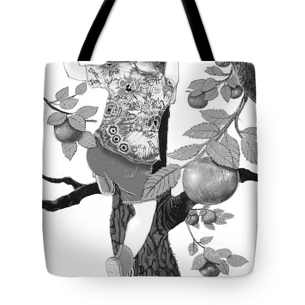 Tote Bag featuring the digital art Where The Best Apples Are by Carol Jacobs