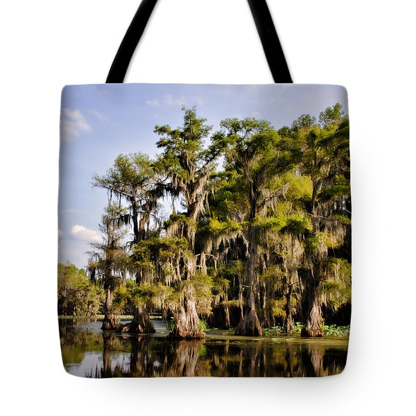 Tote Bag featuring the photograph Where The Cypress Grows by Lana Trussell