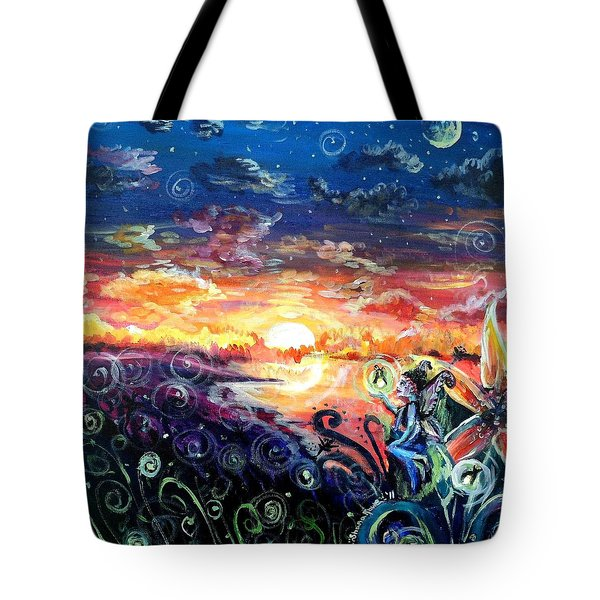 Tote Bag featuring the painting Where The Fairies Play by Shana Rowe Jackson