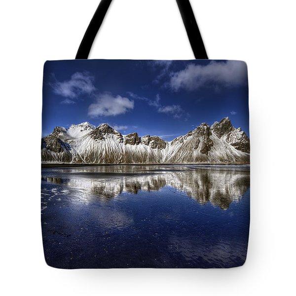 Where The Mountains Meet The Sky Tote Bag by Evelina Kremsdorf