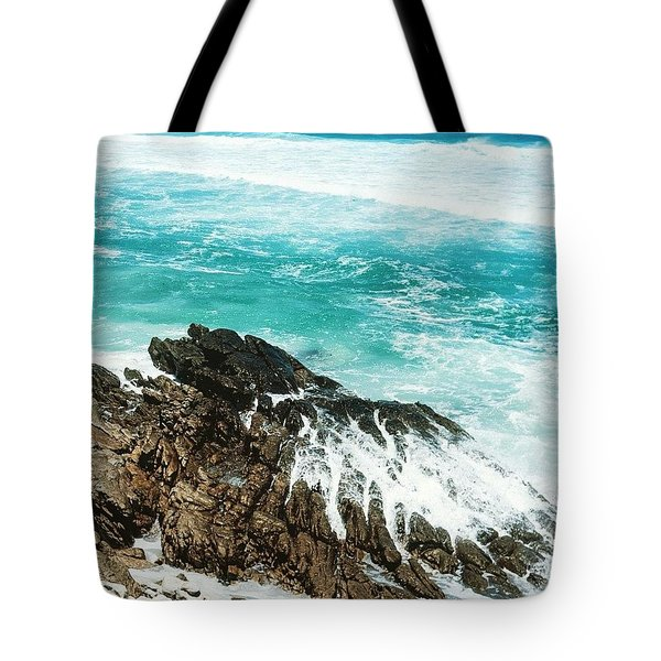 Where The Ocean Breaks Tote Bag