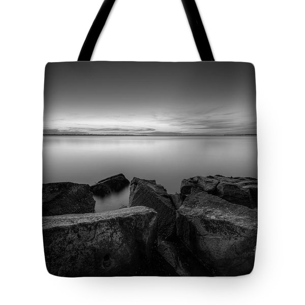 Where The Smooth Meets The Rough Bw Tote Bag