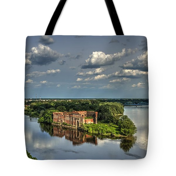 Tote Bag featuring the photograph Where Two Rivers Meet by Julis Simo