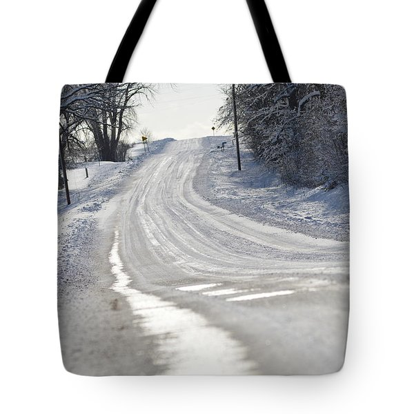 Tote Bag featuring the photograph Where Will The Road Take You? by Dacia Doroff