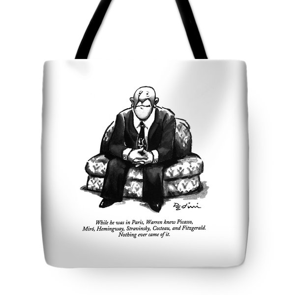 While He Was In Paris Tote Bag
