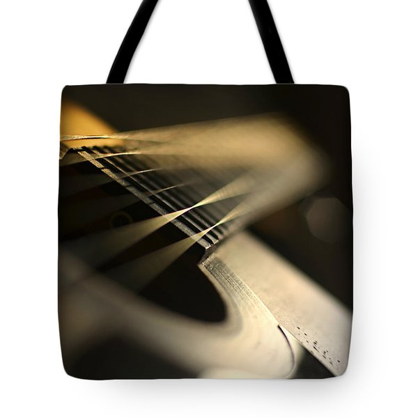 While My Guitar Gently Weeps Tote Bag by Laura Fasulo