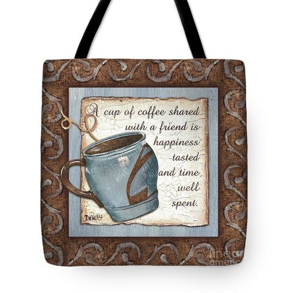 Whimsical Coffee 2 Tote Bag by Debbie DeWitt