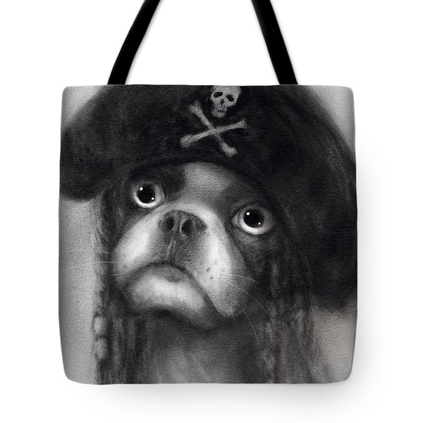 Whimsical Funny French Bulldog Pirate  Tote Bag by Svetlana Novikova
