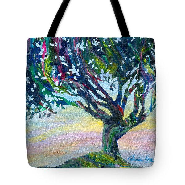 Whimsical Tree Pastel Sky Tote Bag