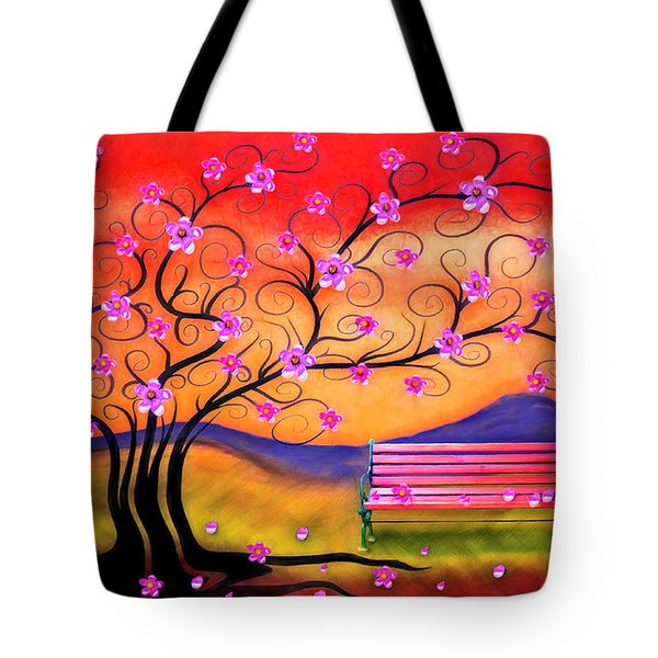 Whimsy Cherry Blossom Tree-1 Tote Bag by Nina Bradica