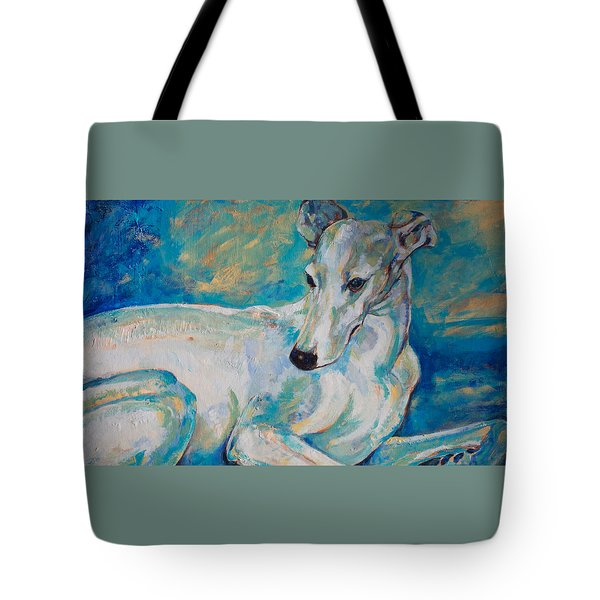 Whippet-effects Of Gravity 4 Tote Bag by Derrick Higgins