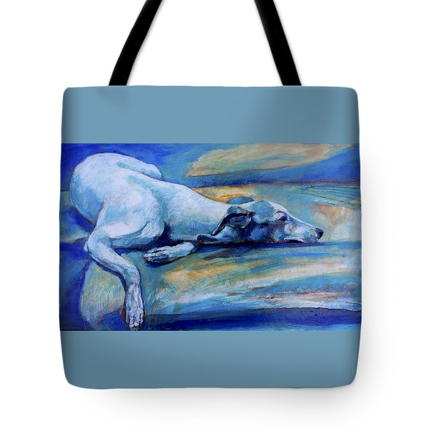 Whippet-effects Of Gravity-6 Tote Bag by Derrick Higgins