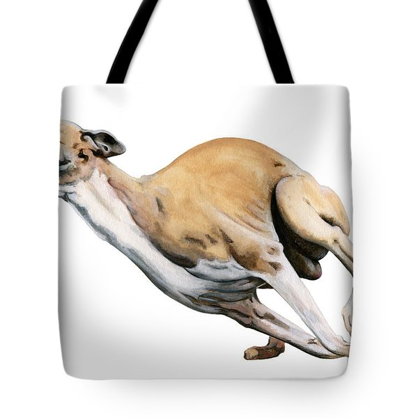 Whippet In The Wind Tote Bag by Liane Weyers