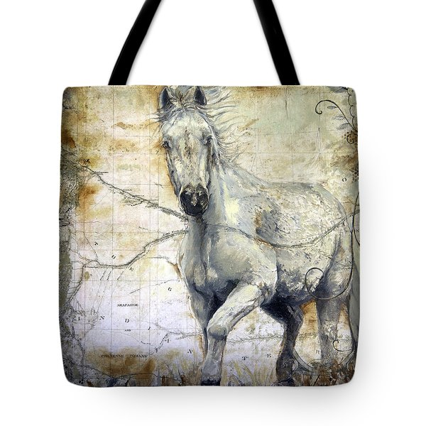Whipsers Across The Steppe Tote Bag by Enzie Shahmiri