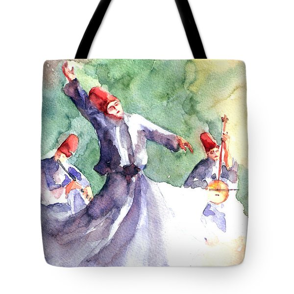 Whirling Dervishes Tote Bag by Faruk Koksal