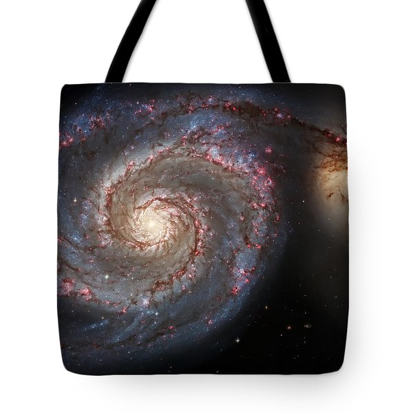 Whirlpool Galaxy 2 Tote Bag by Jennifer Rondinelli Reilly - Fine Art Photography