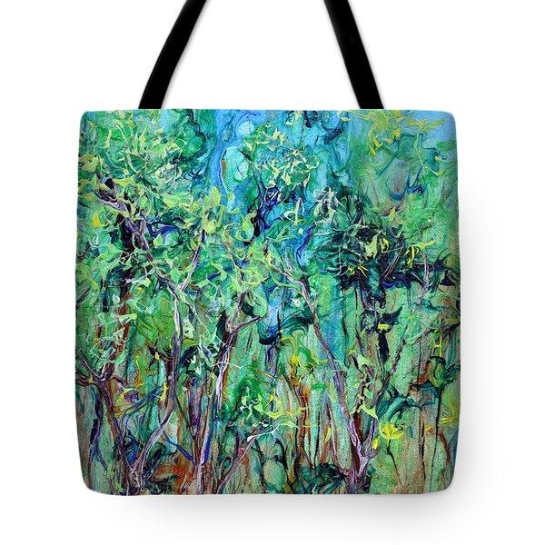 Whirlwoods Tote Bag by Regina Valluzzi