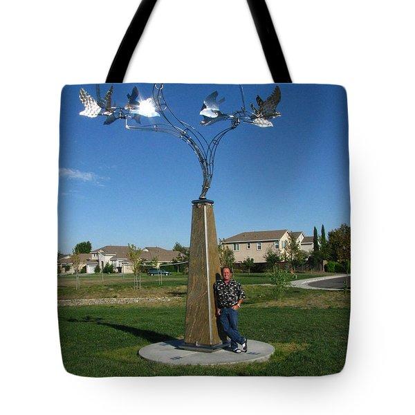 Whirlybird Tote Bag by Peter Piatt