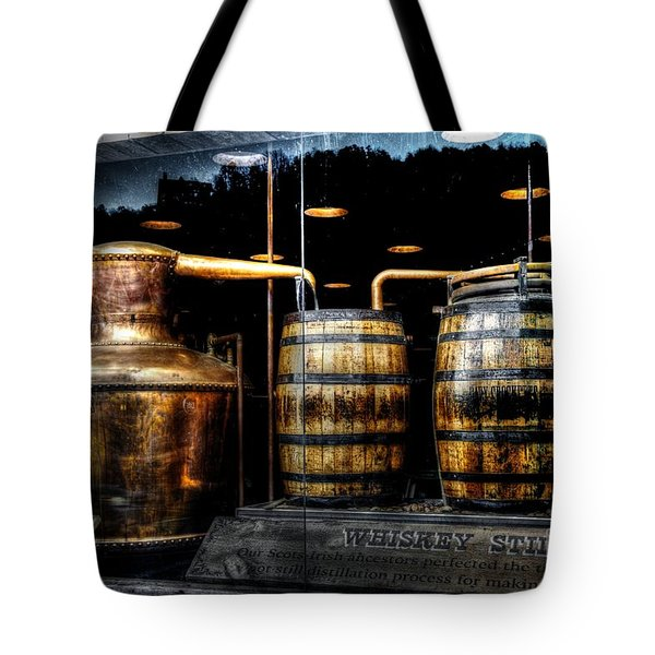 Whiskey Still On Main Street Tote Bag
