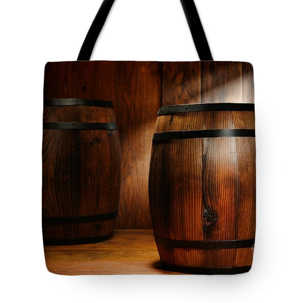 Whisky Barrel Tote Bag