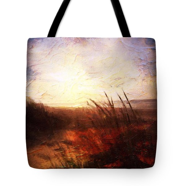 Tote Bag featuring the painting Whispering Shores By M.a by Mark Taylor
