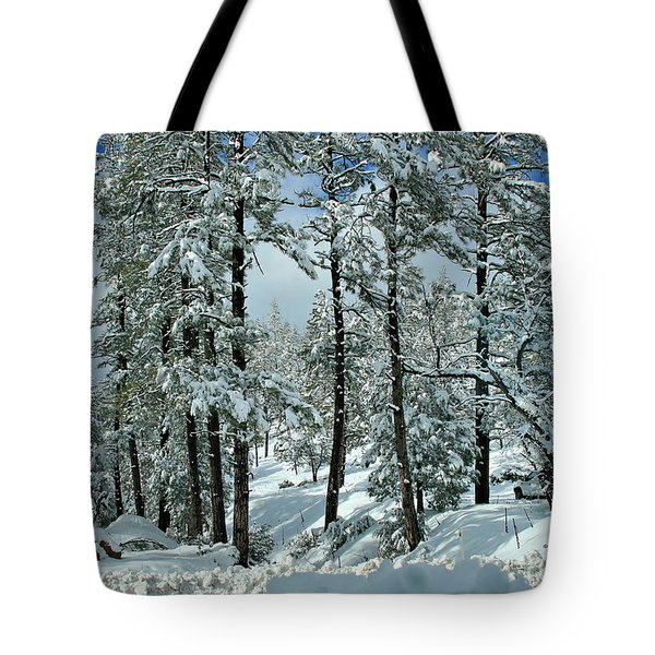 Whispering Snow Tote Bag