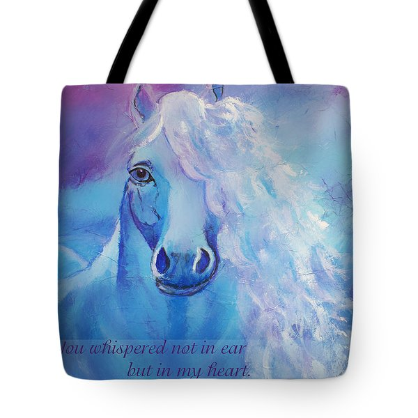 Whispers To My Heart Tote Bag by The Art With A Heart By Charlotte Phillips