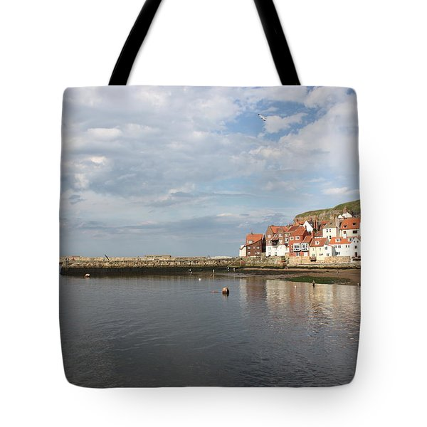 Tote Bag featuring the photograph Whitby Abbey N.e Yorkshire by Jean Walker