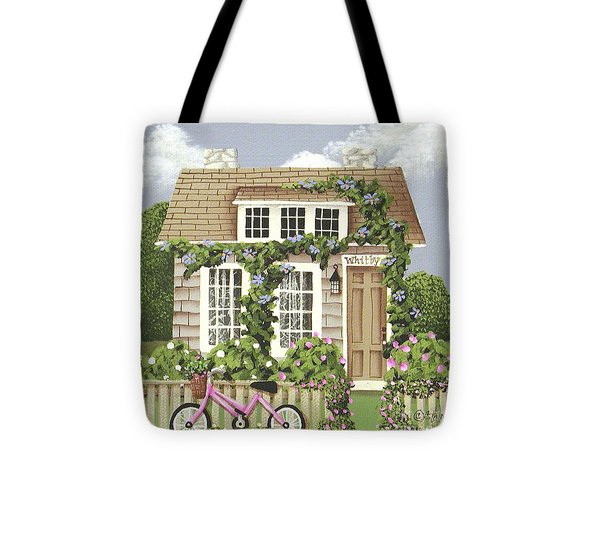 Whitby Cottage Tote Bag by Catherine Holman