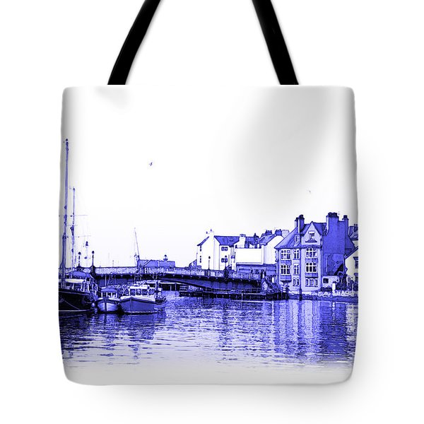 Tote Bag featuring the photograph Whitby Harbor by Jane McIlroy