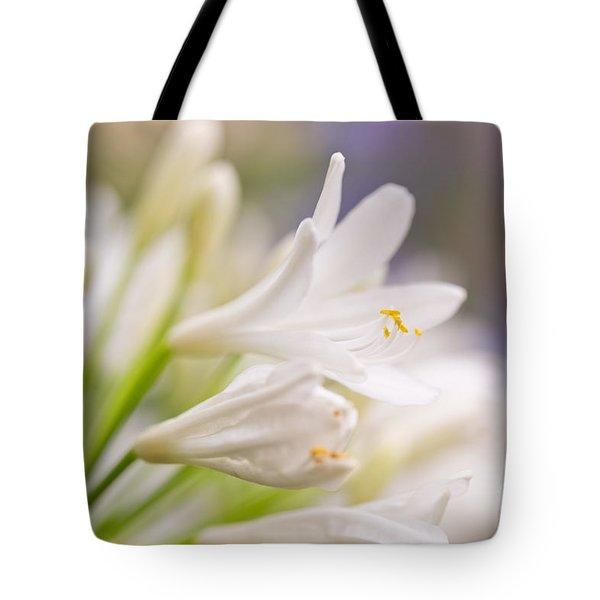 White Agapanthus Tote Bag
