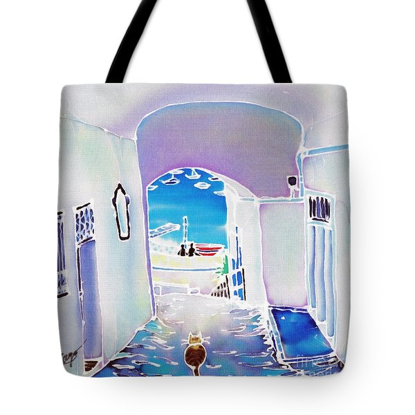 White And Blue 1 Tote Bag