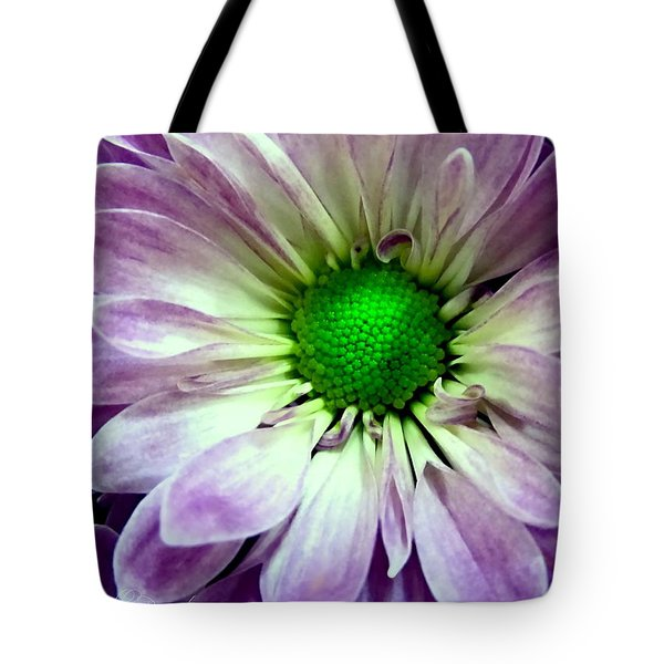 White And Purple Daisy Tote Bag by Danielle  Parent
