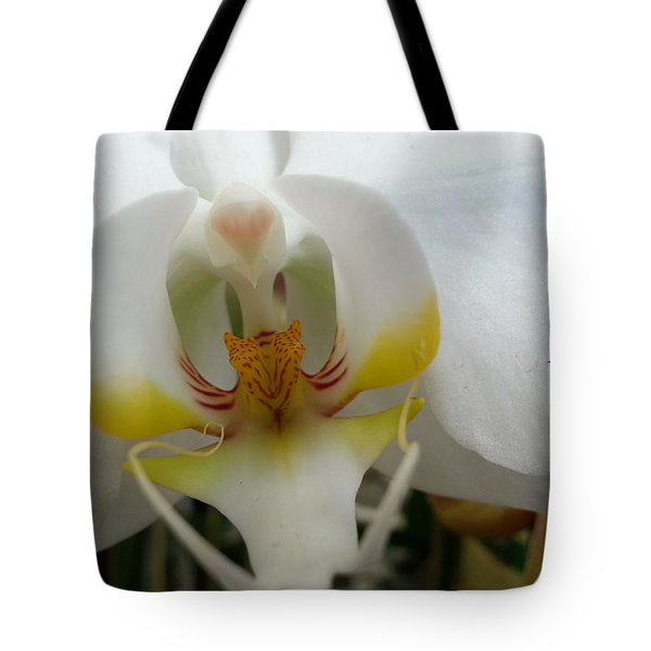 White And Yellow Orchid Tote Bag