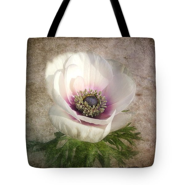 Tote Bag featuring the photograph White Anemone by Barbara Orenya