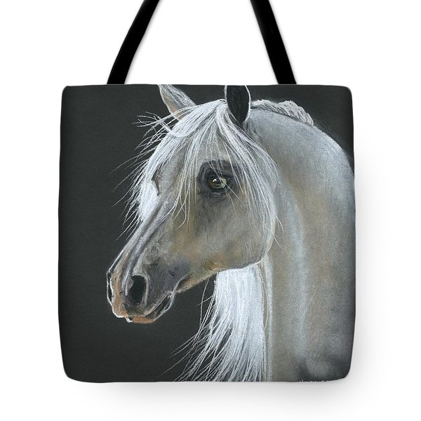 White Arabian Tote Bag by Heather Gessell