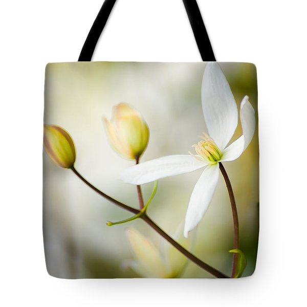 White Awake Tote Bag
