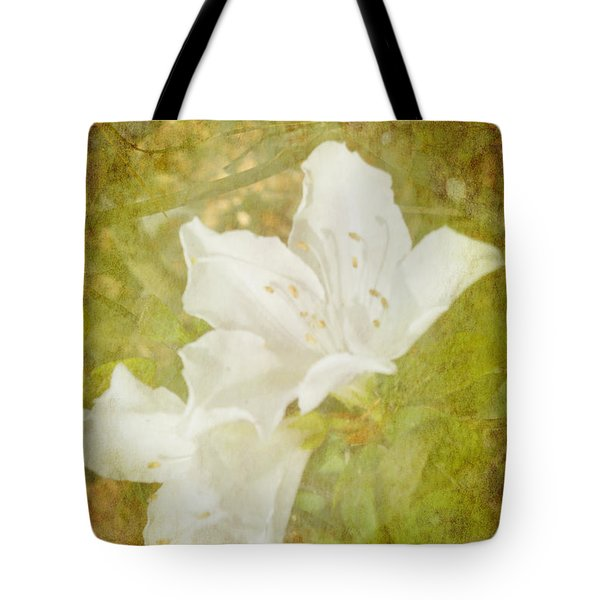 Tote Bag featuring the photograph White Azalea by Judy Hall-Folde